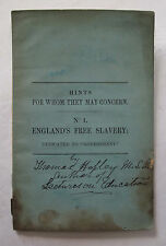 Pamphlet English History Government England's Free Slavery Verse Poetry 1866