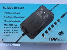 Stabilisiertes Trafo Netzteil 1,5-12V 1,2A für Scanner PMR446 CB Funk Labor uvm.