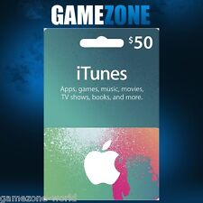 iTunes Gift Card $50 USD USA Apple iTunes Voucher Code 50 Dollars United States