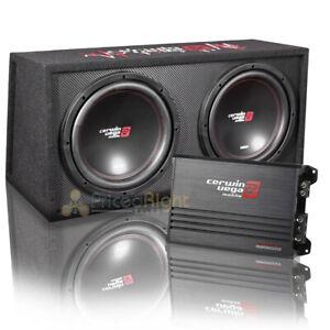 "Cerwin Vega Dual Loaded 12"" Subwoofer Vented Kit Enclosure 3000W Max BKX212V"