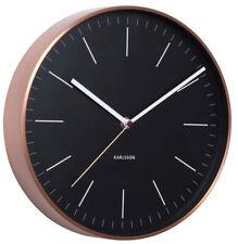 Karlsson Minimal Copper Clock - Black
