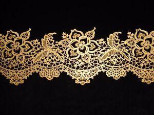 GOLD floral decorative edible cake lace