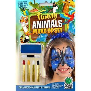 Carnival Toys 9442 : Set Maquillage Teint Papillon Bleu + 4 Crayons En Blister