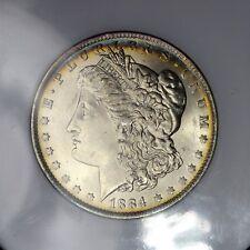 1884-O $1 MORGAN SILVER DOLLAR NGC OLD STYLE HOLDER MS65 PQ TONING / LUSTER