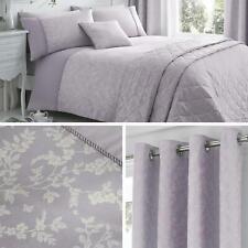 Purple Duvet Covers Lilac Floral Leaf Jacquard Quilt Cover Luxury Bedding Sets
