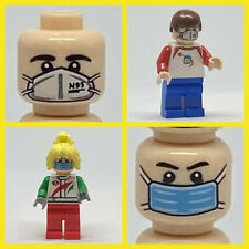 Custom Printed C0VID-19 Face Masks Minifigures Genuine LEGO (23 Piece Set) ~NEW~