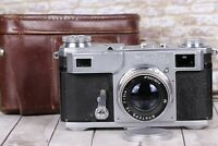 Kiev-2 camera Soviet rangefinder with lens Jupiter-8 50mm F2 2/50 CONTAX Vintage