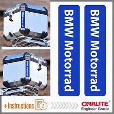 2x BMW Motorrad Blue REFLECTIVE ADESIVI PEGATINA R 1200 1150 F650 GS TOP CASE