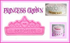 PRINCESS CROWN SILICONE MOULD. PERFECT FOR FONDANT SUGAR CRAFT.CHOCOLATE. ECT