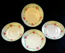 4 x Antique Henry M Williamson & Sons Ditsy Rose Saucers | FREE Delivery UK*