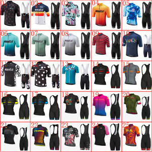 2021 Summer Cycling Jersey Mens Team Bike Shirt Bib Shorts Suit Bicycle Outfits