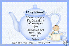 BABY SHOWER / BIRTH ANNOUNCEMENT  INVITATIONS CUTE A BABY IS BREWING ANY COLOUR