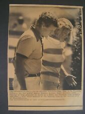 AP Wire Press Photo 1979 Edward Kennedy & Eunice Shriver Discuss Vacation Plans