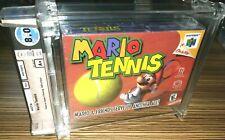 Super Mario Tennis Nintendo 64 N64 New Sealed WATA 8.0 A+ *rArE Japan Release