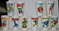 AVENGERS Marvel Super Heroes 7-11 CUPS 1975 Cap Am Blk Panther Vision Iron Man