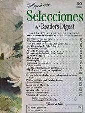 Revista Selecciones del Reader´s Digest vintage - mayo 1968 España - publicidad