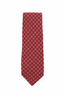 Finamore Napoli Red Window Pane Silk Tie - x - (1292)