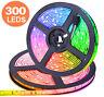 5M RGB Waterproof 300 LED SMD 2835 Flexible LED Strip Lights IP65 16.4Ft
