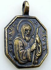 Spanish Colonial St Francis of Padua Our Lady of Solitude Carmelite Rosary Medal