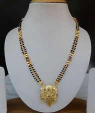 Bollywood Fashion Jewelry Ethnic South Indian Women's Bridal Long Mangalsutra m4