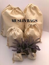 5x8 inch 100% COTTON Double Drawstring bags~25,50,100,200