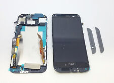 Original HTC One M8s LCD Display Touchscreen Touch Screen mit Rahmen Grau