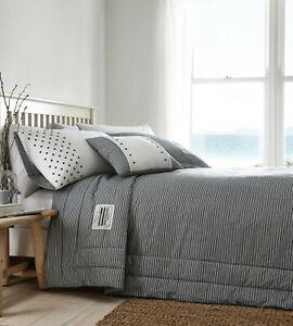 Portfolio Home - New England White & Navy Nautical Stripes Bedspread 200 x 230cm