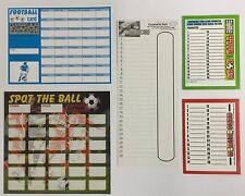 FUNDRAISING CARDS FOOTBALL CARDS MIXED PACK sell at £1 a go take £184 fundraiser