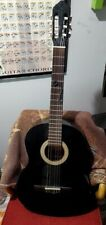 Lucero Acoustic Classical Guitar Model No Lc 100 Bk Needs String Replacement