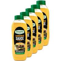5x Develey - Hamburger Sauce 875 ml - Burgersauce mit Gurken- & Zwiebelstückchen