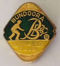 Bundoora Bowling Club Badge Rare Vintage (K10)