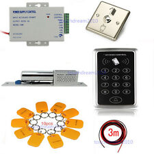 RFID Door Entry Control Systems Kits Electric Bolt Lock 110-240V Power Supply