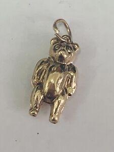 COLLECTORS 9CT YELLOW GOLD MINI TEDDY BEAR CHARM / PENDANT