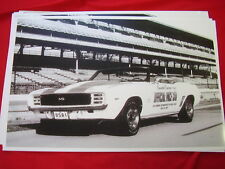 1969 CHEVROLET  CAMARO INDY 500 PACE CAR # 1  11 X 17  PHOTO /  PICTURE