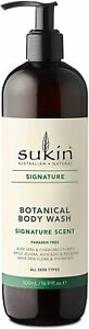 Sukin Botanical Body Wash Pump Bath Original Scent Shower Gel 500ml Paraben Free