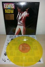 ELVIS PRESLEY - ELVIS NOW - YELLOW - NUMBERED - MOV - MUSIC ON VINYL - LP