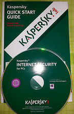 Kaspersky Internet Security  2017   -  5 Pc   *  1 anno   *  New  * KIS 5PC *