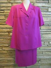 NWT Kasper  Magenta Fuscia Purple  Skirt suit set sz 22W