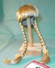 """doll wig blond 11"""" to 11.5"""" Glorex/Switzerland braids"""