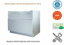 "White Shaker Farmer Sink Base Cabinet 36""W x 24""D x 34 1/2""H"