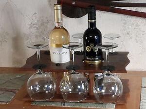 Wine Bottle & Stem Glass Caddy