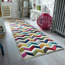 Flair Rugs Spectrum Bolero Hand Carved Runner, Multi, 66 x 230 Cm