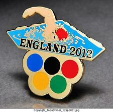 OLYMPIC PINS 2012 ENGLAND U.K. SPORT OF SWIMMING SWIMMER - FREESTYLE - GOLD