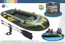 Intex Seahawk 4 Fishing Boat Set- Four Person Inflatable Lake Raft #COD Accepted