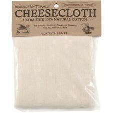 Cheesecloth UNBLEACHED 9 Sq Ft for Kefir and Yogurts