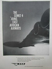 4/1960 PUB EAA EAST AFRICAN AIRWAYS BOAC DE HAVILLAND COMET 4 LONDON NAIROBI AD