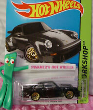 2015 i Hot Wheels Porsche 934 Turbo Rsr #220 ☆black; Gold lace☆Hw Garage-Case B