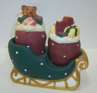 Sakura Warren Kimble Christmas Sleigh with Bags of Toys Salt Pepper Shaker Set