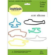 BANDZMANIA SILLY BANDZ ARMED FORCES SHAPES 24 PACK
