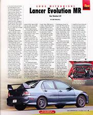 2005 Mitsubishi Lancer Evolution MR - First Drive -  Classic Article A86-B